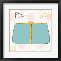 Framed Fashion Blooms I Blue