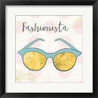 Framed Fashion Blooms IV Blue
