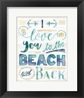 Framed Coastal Words I on Wood