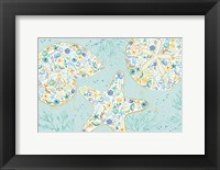 Framed Seaside Blossoms V