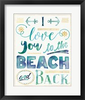 Framed Coastal Words I