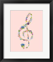 Framed Groovy Treble Clef