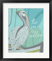Framed Pelican - Sea is Calling