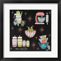 Framed Mid Century Kitchen Pattern