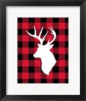 Framed Deer Lumberjack