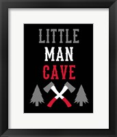 Framed Little Man Cave Lumberjack