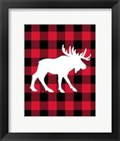 Framed Moose Lumberjack