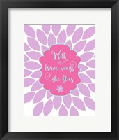 Framed Bird Floral Quote