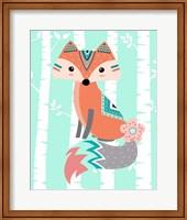 Framed Tribal Fox Girl II
