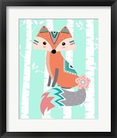 Framed Tribal Fox Girl II