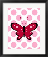 Framed Butterfly Polka Dots