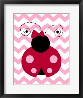 Framed Ladybug Chevron