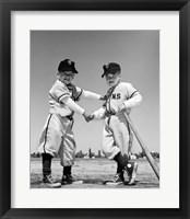 Framed 1960s Pair Of Little Leaguers In Uniform
