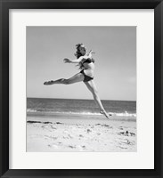 Framed 1950s Woman In Bikini Running