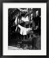 Framed 1930s Tenement Building With Laundry