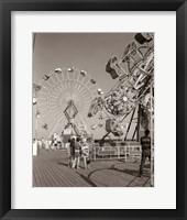 Framed 1960s Teens Looking At Amusement Rides