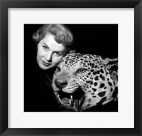 Framed 1950s Dramatic Face Shot Woman Posing