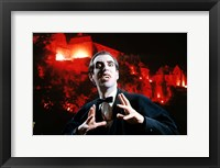 Framed Man In Vampire Makeup And Costume