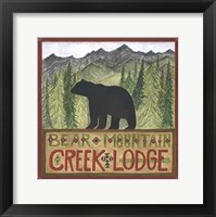 Framed Bear Mountain Creek Lodge