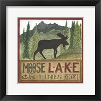 Framed Moose Lake