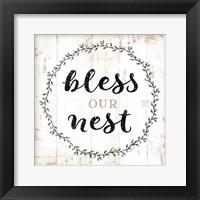 Framed Bless Our Nest