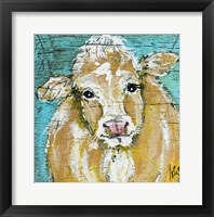 Framed Cow Face