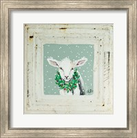 Framed Lamb with Wreath