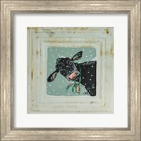 Framed Cow with Bells