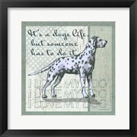 Framed Dogs Life