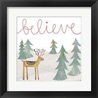 Framed Believe Reindeer
