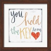 Framed Key to My Heart