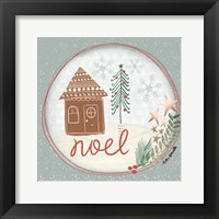 Framed Noel Snow Globe