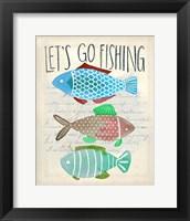 Framed Let's Go Fishing