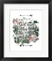 Framed God is Within Her Floral