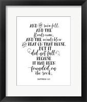 Framed Matthew 7-25