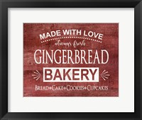Framed Gingerbread Bakery
