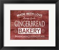 Framed Gingerbread Bakery