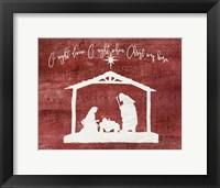 Framed O Holy Night - Manger