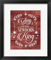 Framed Glory to the Newborn King
