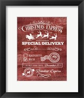Framed Christmas Express