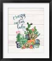 Framed Crazy Cactus Lady
