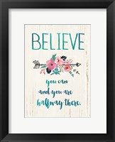 Framed Believe You Can