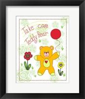 Take Care Teddy Bear Framed Print