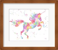 Framed Unicorn White