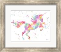 Framed Unicorn White