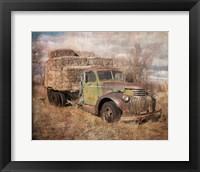 Framed Vintage Hay Truck
