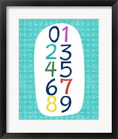 Framed Math Numbers