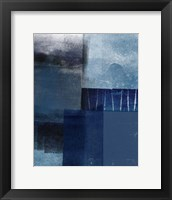 Framed Blue Abstract I