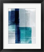 Framed Blue Abstract V
