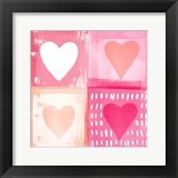 Framed Four Hearts